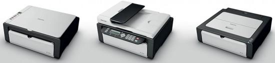 Впервые Ricoh сделали серию домашних принтеров.