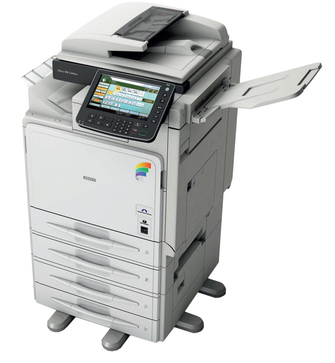 Ricoh Aficio™ MP C400SR   Компактный и удобный.