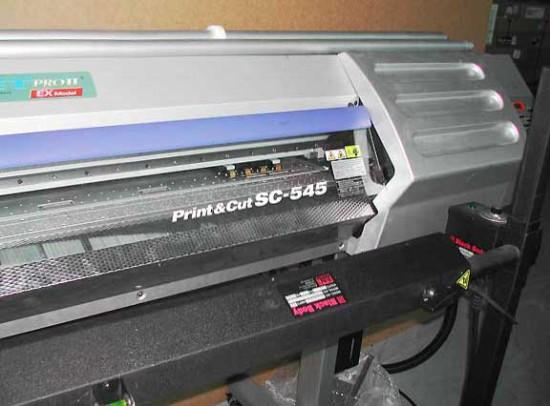 Roland SC 545EX   печатаем и режем.