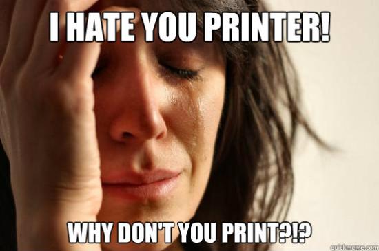 Причины, по которым принтер может не печатать