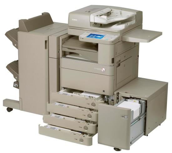 Canon imageRunner Advance C5240i   вмещает в себя много бумаги.