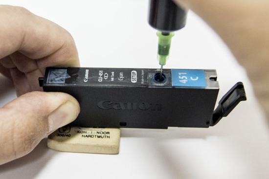 Как заправить картридж canon 7240