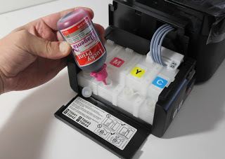 Как заправить принтер epson l200?