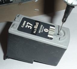 Как заправить картридж Сanon ip1900?