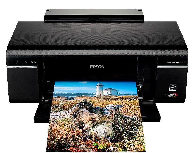 Epson Stylus Photo P50   стильный фотопринтер для печати фотографий через ПК