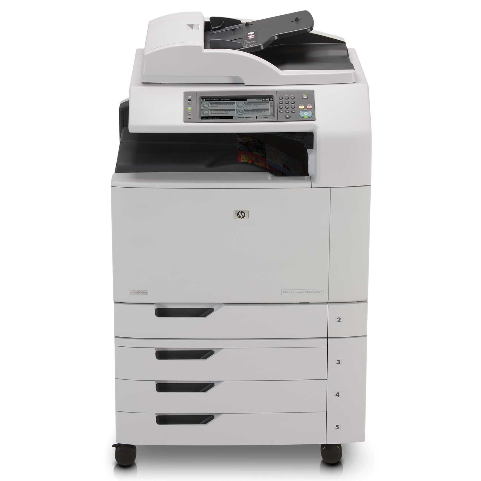 HP Color LaserJet CM6040   41стр/мин и 768мб ОЗУ.